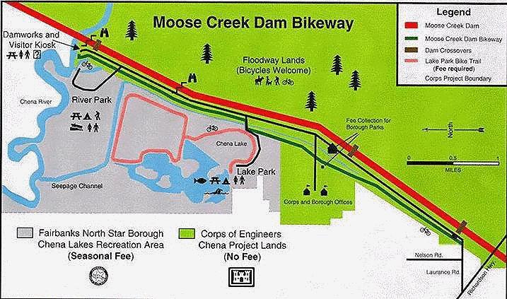 Chena Lakes Bike Trail Map